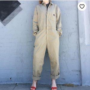 Dickies Vintage Oversized Tan Jumpsuit Overalls X2